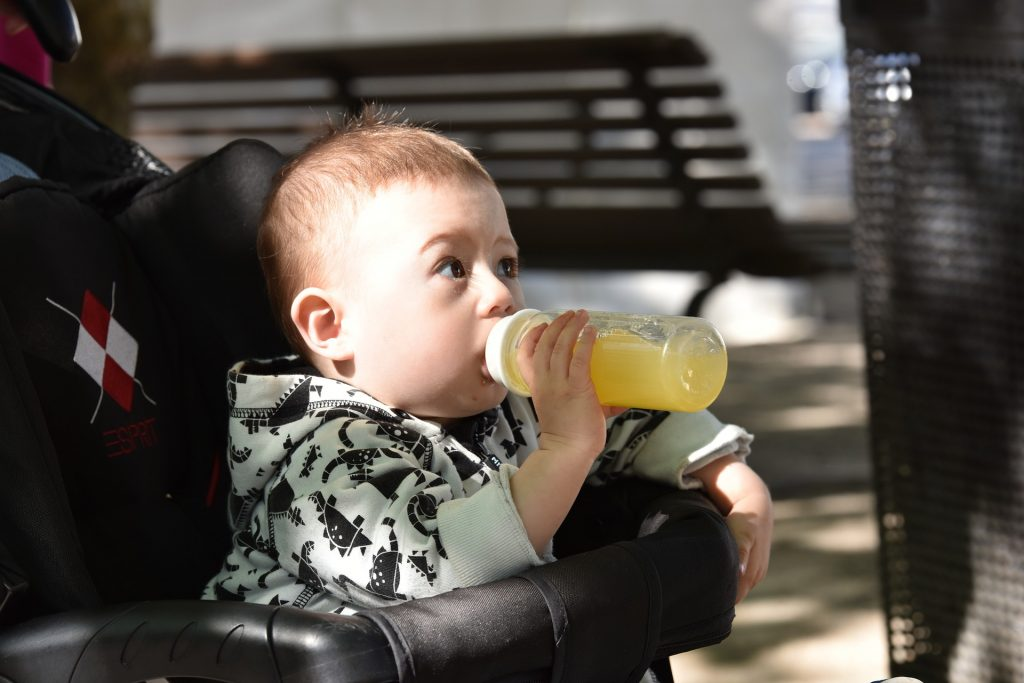 insisting on a bottle