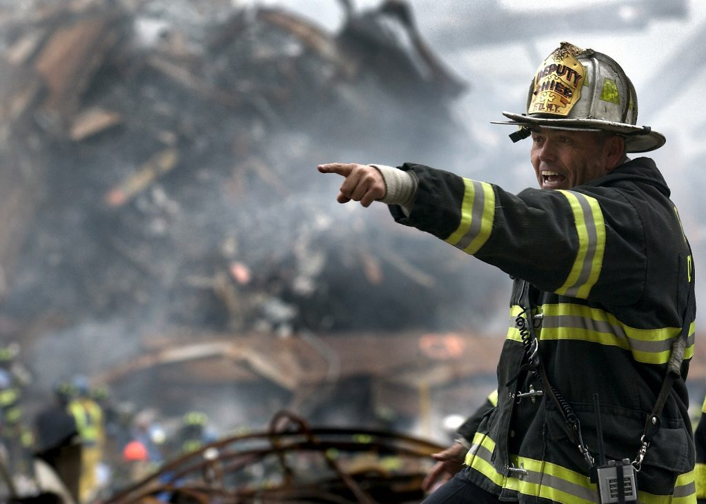 responder in a natural or man-made disaster